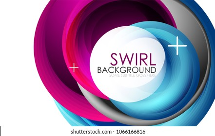 Spiral swirl flowing lines 3d vector abstract background. Vector illustration