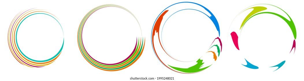 Spiral, swirl, twirl icon, design element vector illustration