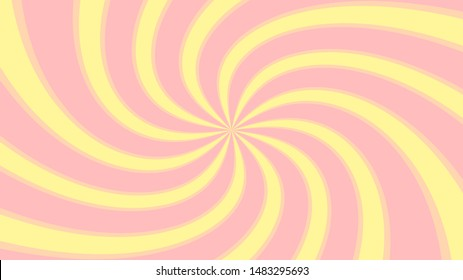 spiral and swirl zoom pink yellow pastel colors effect for comics background, twist zoom light ray yellow pink soft shiny star pastel color, distorted shiny soft pink rays burst zoom and spiral twist