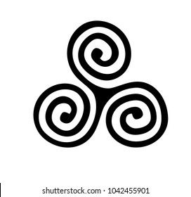 spiral symbol logo, hand drawn 3 spiral vector, Believe symbol, Hand sketched card, Spiral symbol. Invitation, banner, postcard, poster, stickers, tag, illustration