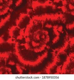 Spiral TieDye Fire Flower. Red Horror Round. Tie Dye Red Circle. Abstract Tie Dye. Swirl Tie Dye. Mystic Rose Spiral. Red Swirl Background. Red Hell Flower Tie Dye. Vector Rose Spiral Swirl Background