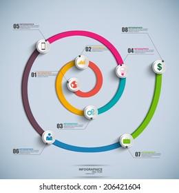Spiral Timeline Infographics
