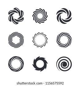 Spiral, tornado, vortex, hurricane vector graphics
