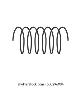 Spiral vector icon, swirl line outline simple style isolated