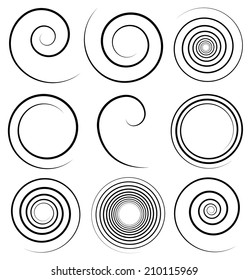 Spirals with stroke profile