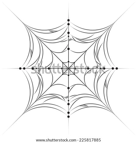 spirder web use pattern background isolated stock vector royalty