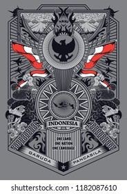 spirit garuda pancasila illustration