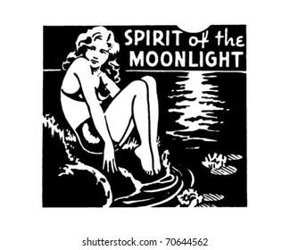 Spirit Of The Moonlight - Retro Ad Art Banner