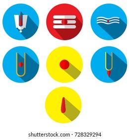 Spiritual Indian Tilak Sign  Vector flat illustration