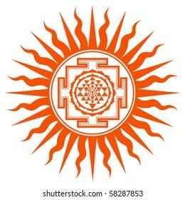 Spiritual Shree Yantra Sign