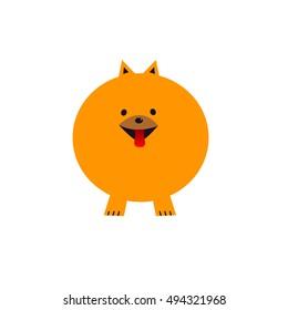 Spitz vector illustration. Funny dog logo.