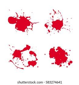 splash blood drop vector