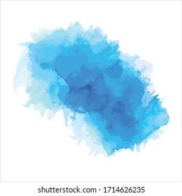 splash of brush shades watercolor illustration.vector Eps10