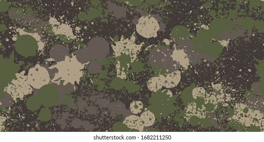 Splash camouflage background. Seamless pattern vector.
