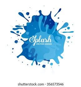 splash concept design, vector illustration eps10 graphic