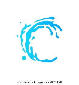 splash logo vector