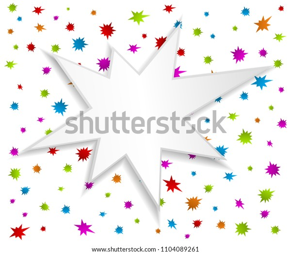 splash star on abstract icon background