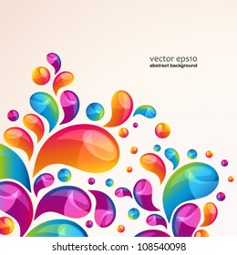 Splash vector background cover template.