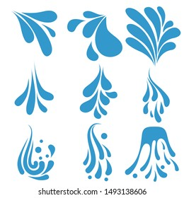 Splash vector icon. beach illustration symbol. aqua sign or logo.