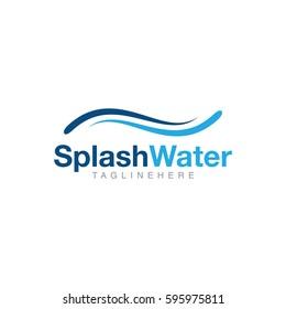 Splash water logo design