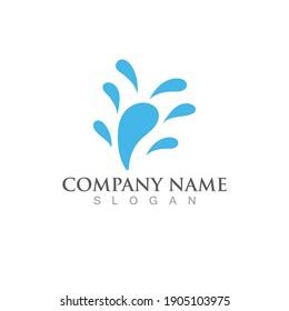 Splash water vector logo image