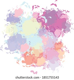 splash watercolor vector with background