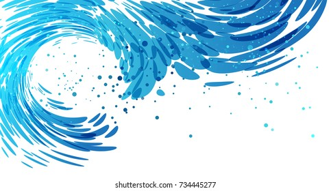 Splash wave background