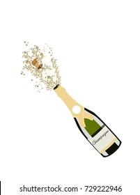 Splashes of champagne