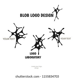 Splashes Human brain - vector logo template concept illustration. Neuro labaratory Geometric mind structure sign. Creative idea symbol. Design element.