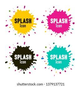 Splashes Set. Vector Inks - Paint Blobs Isolated. Splatter Icons.
