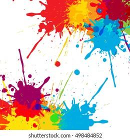 splatter Color background illustration vector design