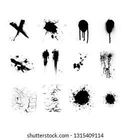 splatter elements vector