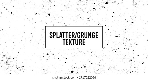 Splatter Grunge Texture Overlay for Your Retro and Vintage Look Design