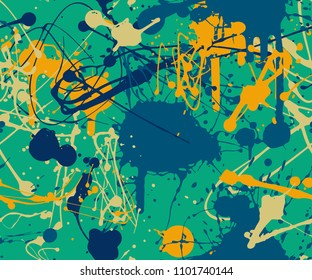 Splatter paint background pattern