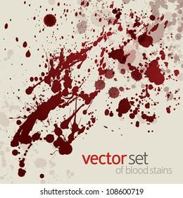 Splattered blood stains, set 14