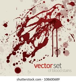 Splattered blood stains, set 16