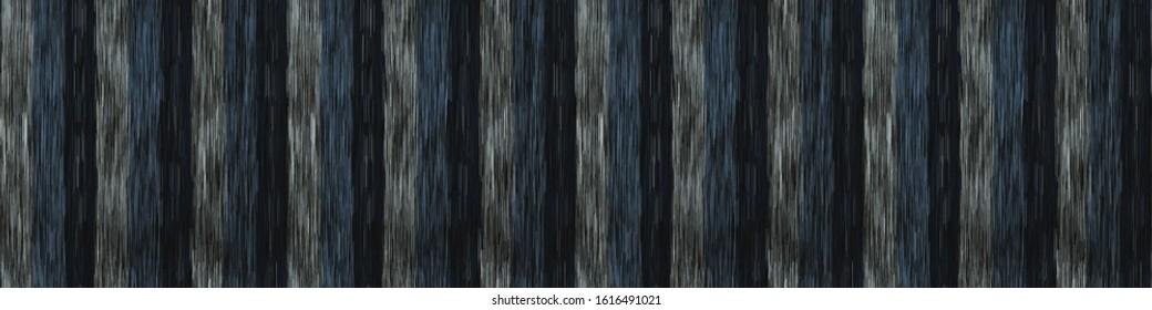 Spliced vector broken stripe border texture. Variegated mottled vertical line banner background. Seamless rough grunge pattern. Distorted masculine trim. Fashion textile disrupted glitch ribbon..