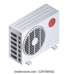 Split air conditioner icon. Isometric of split air conditioner vector icon for web design isolated on white background
