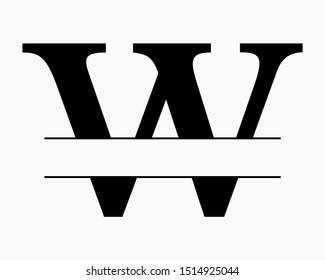 Split Monogram Images Stock Photos Vectors Shutterstock