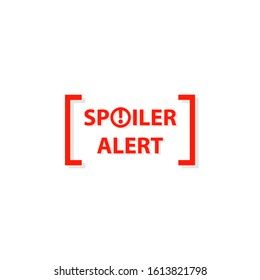 Spoiler alert icon. Clipart image isolated on white background