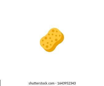 Sponge vector flat icon. Isolated sponge emoji illustration
