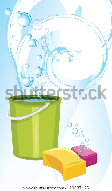 sponges-bucket-water-on-abstract-600w-11