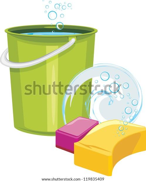 sponges-bucket-water-vector-600w-1198354