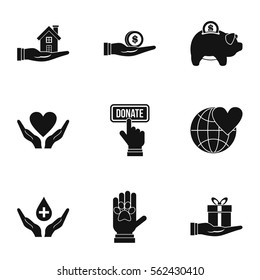 Sponsorship icons set. Simple illustration of 9 sponsorship vector icons for web