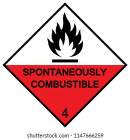 Spontaneously Combustible Symbol Sign, Vector Illustration, Isolate On White Background Icon. EPS10