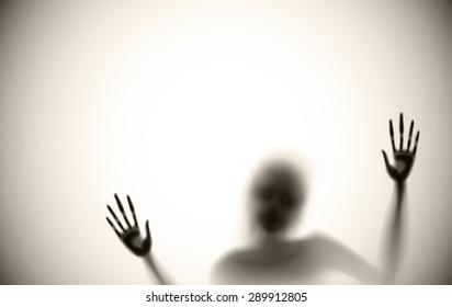 spooky diffuse silhouette vector