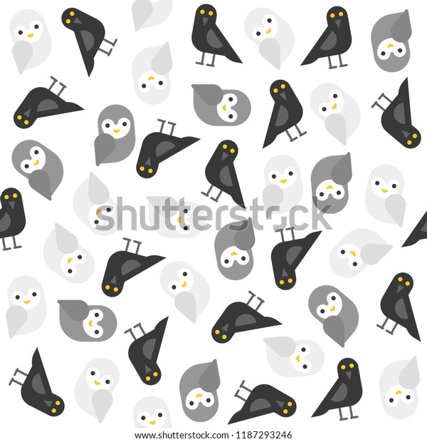 Spooky Halloween Theme Seamless Pattern Flat Stock Vector (Royalty