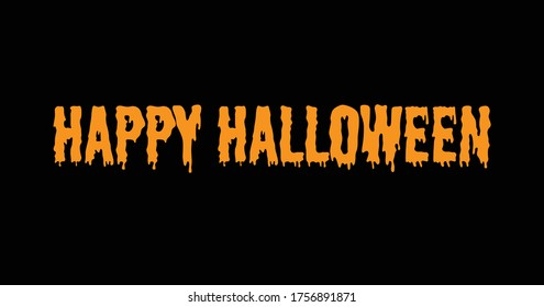 Spooky Happy Halloween Text on a Black Background