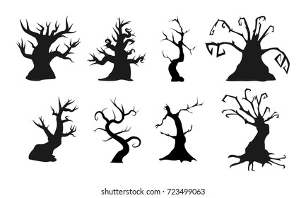 Spooky Tree Silhouette Images Stock Photos Vectors Shutterstock Clipart black and white forest cartoon. https www shutterstock com image vector spooky old trees creepy shapes vector 723499063