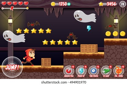 Spooky Places Adventure Game Assets.
